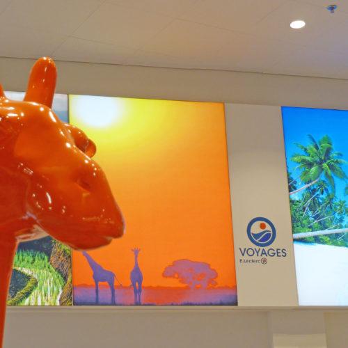 Leclerc Voyages girafe orange
