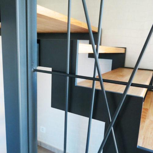 limon métal crémaillère escalier