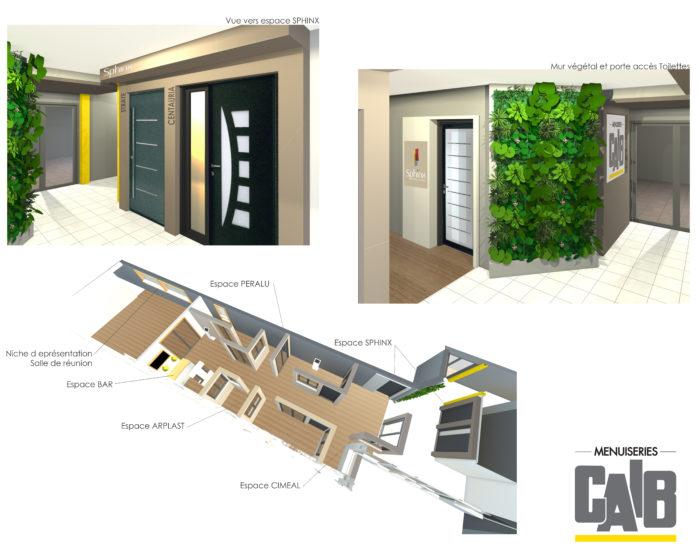 showroom caïb fabricant menuiseries extérieures