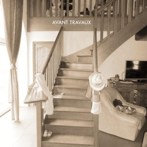 ancien escalier bois