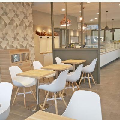 restaurant boulangerie verrière déco scandinave