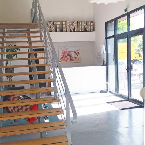 Hall d'entrée bureaux Catimini - Saint Macaire en Mauges