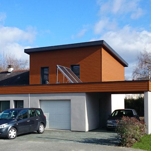 surélévation toiture monopente et création car park