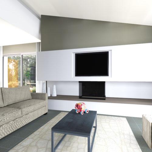 cheminee horizontale design
