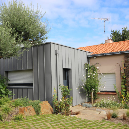 extension zinc toiture terrasse