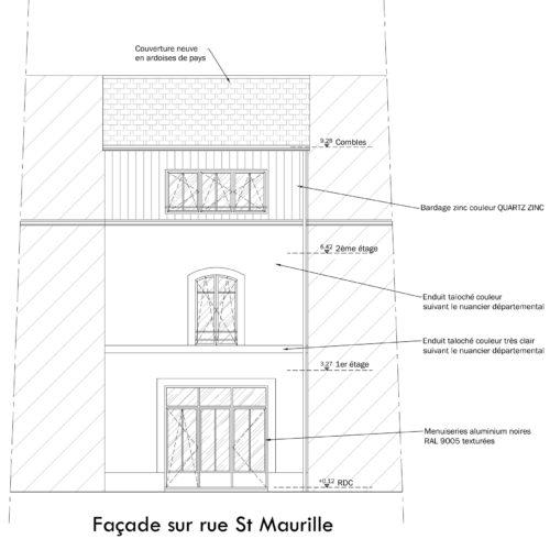 Elévation façade projetée
