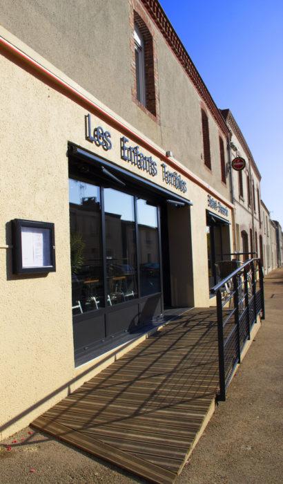 accessibilité restaurant rampe